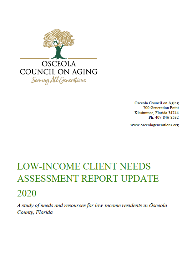 Low Income Client Needs Assessment Report 2020